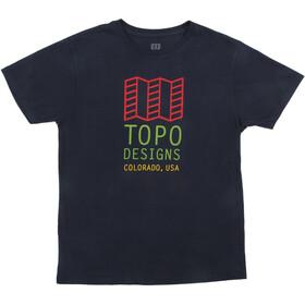 Topo Designs Original Logo T-Shirt Homme, navy